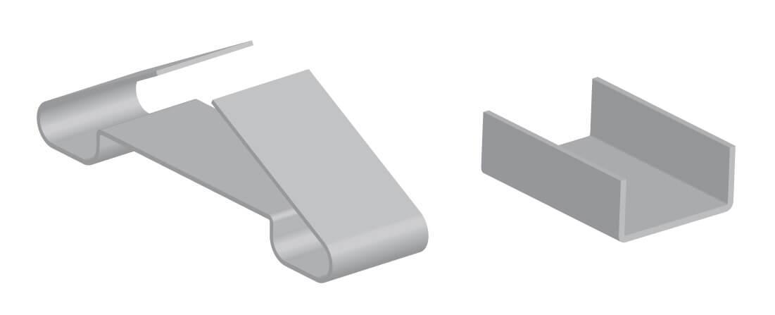 Зажим крепежный СР.2-100 Ц